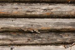 Muur van logboeken Royalty-vrije Stock Foto's