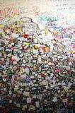 Muur van minnaars in Verona Stock Foto's
