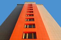 Muur van modern flatgebouw Stock Afbeeldingen