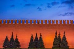 Muur van Moskou het Kremlin, Rusland royalty-vrije stock afbeelding