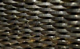 Muur van muntstukken Stock Foto