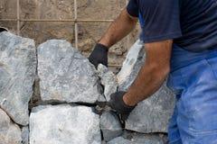Muur van natuurlijke steen Royalty-vrije Stock Foto