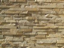 Muur van okerbakstenen Royalty-vrije Stock Fotografie
