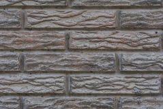 Muur van oude rode bakstenen met een patroon royalty-vrije stock fotografie