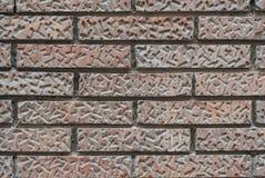 Muur van oude rode bakstenen met een patroon royalty-vrije stock afbeeldingen