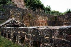Muur van oude vesting Royalty-vrije Stock Foto