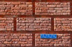 Muur van rode baksteen royalty-vrije stock foto