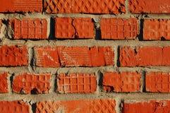 Muur van rode baksteen Royalty-vrije Stock Foto's