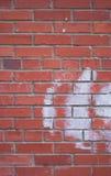 Muur van rode baksteen Stock Afbeelding