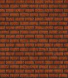 Muur van rode baksteen. Royalty-vrije Stock Foto's