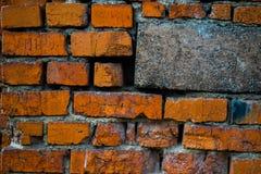 Muur van rode baksteen Royalty-vrije Stock Afbeeldingen