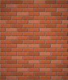Muur van rode baksteen naadloze achtergrond Royalty-vrije Stock Afbeeldingen