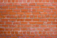 Muur van rode bakstenen Geweven close-up als achtergrond Stock Foto