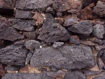 Muur van rotsen stock afbeelding
