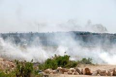 Muur van Scheiding Palestina Israel Apartheid Stock Foto's