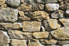 Muur van steen Royalty-vrije Stock Foto's