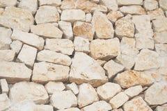Muur van steenfabriek die in droog wordt geplaatst royalty-vrije stock afbeelding