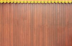 Muur van Thaise Kunsten en het hout van het Scherm Stock Afbeelding