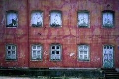 Muur van Vensters Koloniale Recife, Brazilië Stock Afbeeldingen