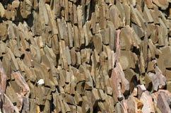 Muur van vlakke stenen Royalty-vrije Stock Foto's
