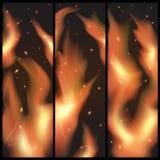 Muur van vlammen Royalty-vrije Stock Foto's