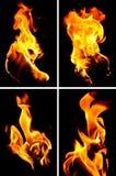 Muur van vlammen Stock Afbeelding