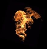 Muur van vlammen Stock Foto's