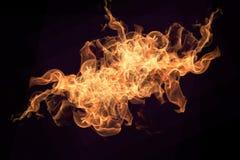 Muur van vlammen Stock Foto