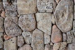 Muur van vulkanische steen stock foto