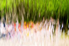 Muur van waterdalingen op aard als achtergrond Stock Foto