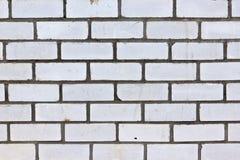 Muur van witte baksteen Stock Afbeeldingen