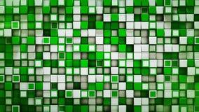 Muur van witte en groene 3D dozen abstracte achtergrond vector illustratie