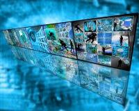 Muur van zes beelden Stock Afbeeldingen