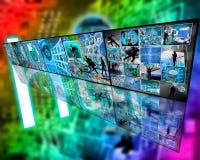 Muur van zes beelden Stock Foto's