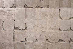 Muur zonder tegels Stock Foto
