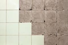 Muur zonder tegels Stock Afbeelding