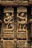Muurbeeldhouwwerk van Zontempel Royalty-vrije Stock Fotografie