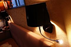 Muurblaker voor flat of hotel Opgezet op de muur Details en close-up royalty-vrije stock foto's