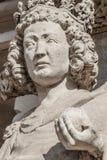 Muurcijfer van koningin bij hoofdfaã§ade van kathedraal in Maagdenburg, royalty-vrije stock foto's