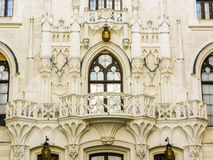 Muurclose-up van Hluboka-Kasteel in Tsjechische Republiek Royalty-vrije Stock Foto's