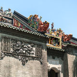 Muurdecor van Guangdong Volksart museum Stock Foto's