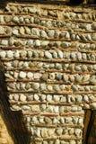 Muurdetail bij ecomusee in de Elzas Stock Foto's
