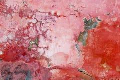 Muurfragment met krassen en barsten Stock Fotografie