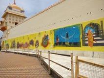 Muurgraffiti bij Raja Ram-tempel Orchha Stock Afbeeldingen