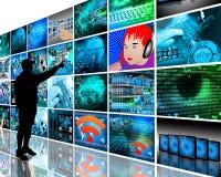 Muurhigh-tech royalty-vrije stock afbeeldingen