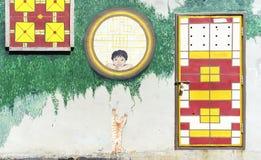 Muurkunst het schilderen Stock Afbeeldingen