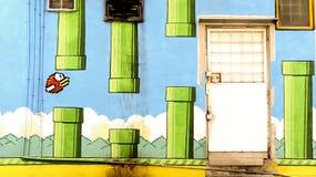 Muurkunst het schilderen Stock Fotografie