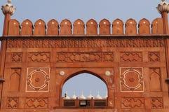 Muurkunst van Badshahi-Moskee in Lahore royalty-vrije stock foto's
