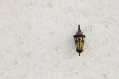 Muurlamp met achtergrond Stock Fotografie