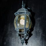 Muurlamp met geweven achtergrond royalty-vrije stock foto's